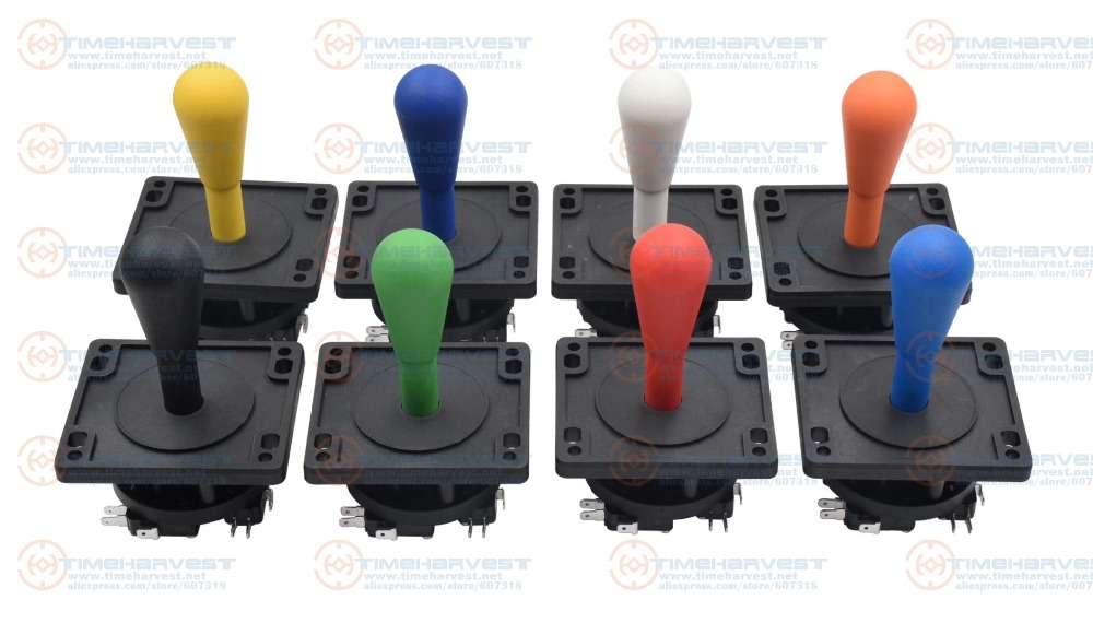 4pcs Amercian Joystick 8 Way Operation Black Joystick With 4 Microswitches Arcade Game Machine Accessories For Game Cabinet