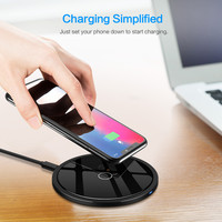 Ultra Slim Qi Fast Wireless Charger Rapid Charging Stand for iPhone X for Samsung Galaxy S9 / S9 Plus Certified Accessories