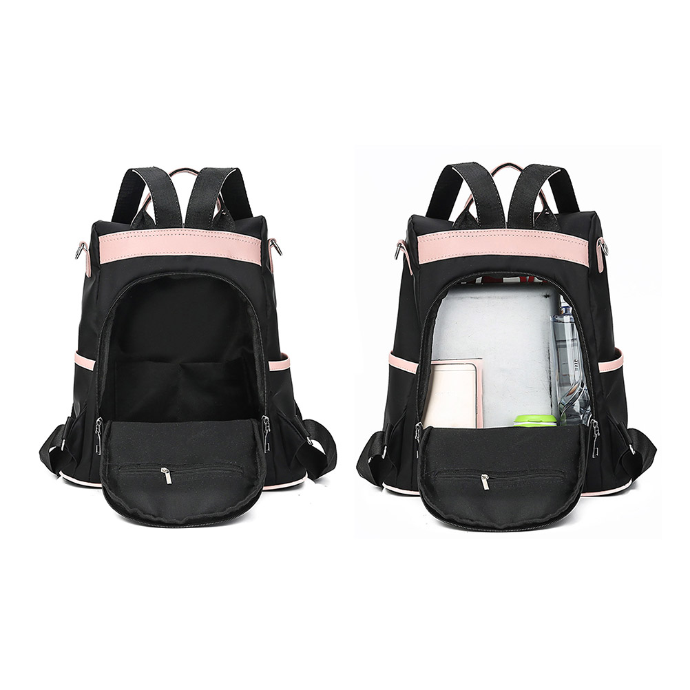 Image 5 - 2019 Women Simple Lightweight Anti theft Backpack Oxford Cloth Waterproof Shoulder Bag Female Travel laptop backpack-in Backpacks from Luggage & Bags