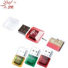 SR 2 sztuk/partia wyczyść pojedynczy czytnik kart dla Micro SD USB zgrzeblone OTG Adapter Lector de dni na PC Laptop komputer