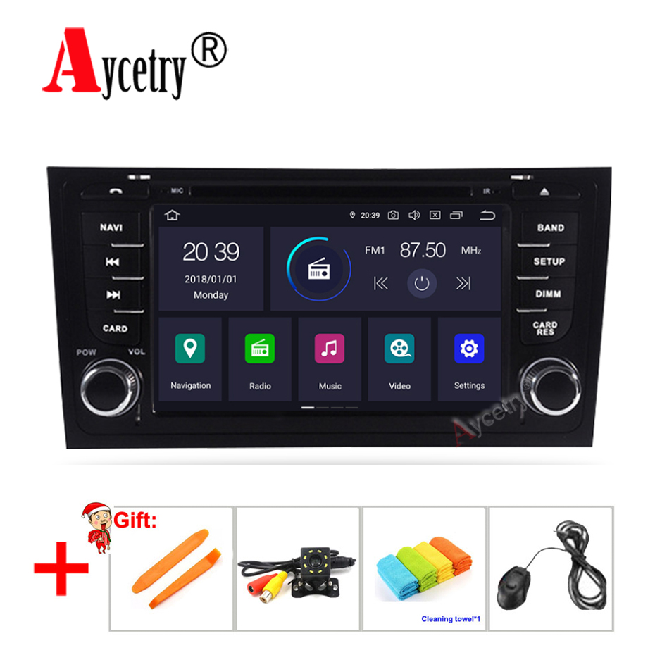 DSP IPS Octa core 4G RAM 2 Din android 9 Car Multimedia dvd Player GPS Navigation audio For Audi A6 S6 RS6 Car radio stereo obd2