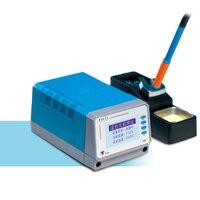 T12 11 75W lead free soldering station adjustable temperature soldering station soldering iron mobile phone repair tools|Soldering Stations|   -
