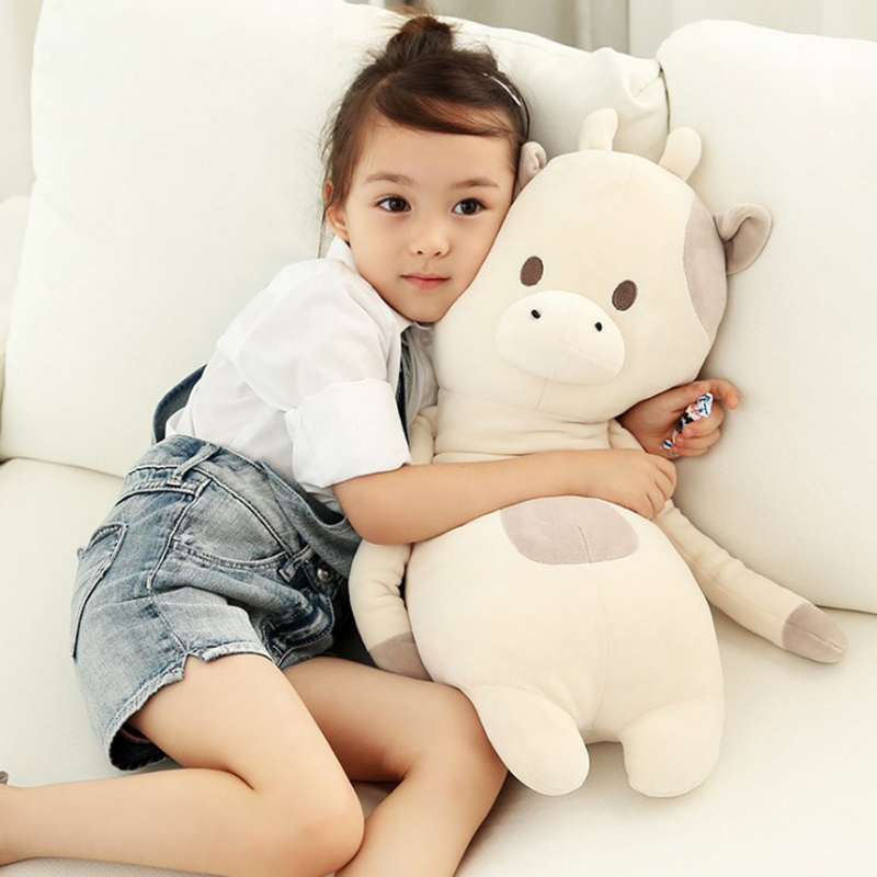 60cm Kawaii animal plush dolls kids stuffed toys for children soft comfort sleeping pillow Cows/rabbit/fox/teddy bear stuffed animal 120 cm cute love rabbit plush toy pink or purple floral love rabbit soft doll gift w2226