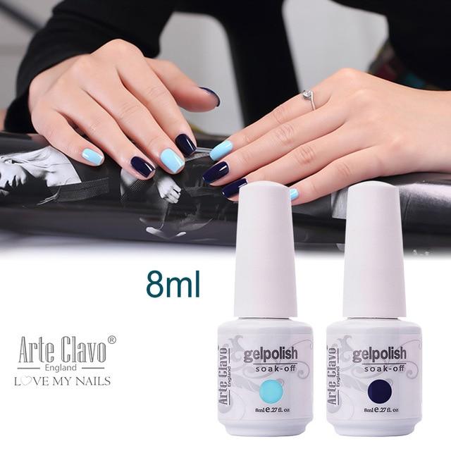 8ml Arte Clavo Choose 1 Color Nail Art Supplies Gel Nail Polish Set ...