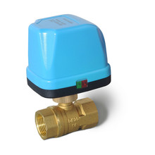 Miniature Electric actuator Two-way motorized Ball 3 way Valve with Three-wire Two-control for Air Conditioning Water Heating hand integrated electric ball valve three wire two control ac220v electric two way three way internal thread ball valve