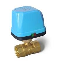 Atuador elétrico miniatura, válvula de esfera de 2 vias motorizada com três fios dois controles para o ar água condicionado aquecimento