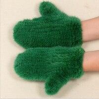 2016 New Quality Mink Fur Fur Hand Woven Gloves Warm Winter Men And Women