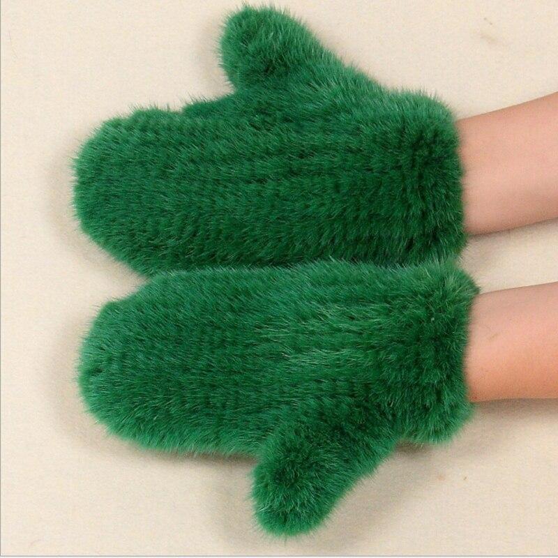2017 nouvelle qualité fourrure de vison gants tissés à la main chaud hiver hommes et femmes