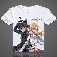 52 Styles Anime Sword Art Online Kirigaya Kazuto T Shirts Yuuki Asuna Printed T Shirt Short