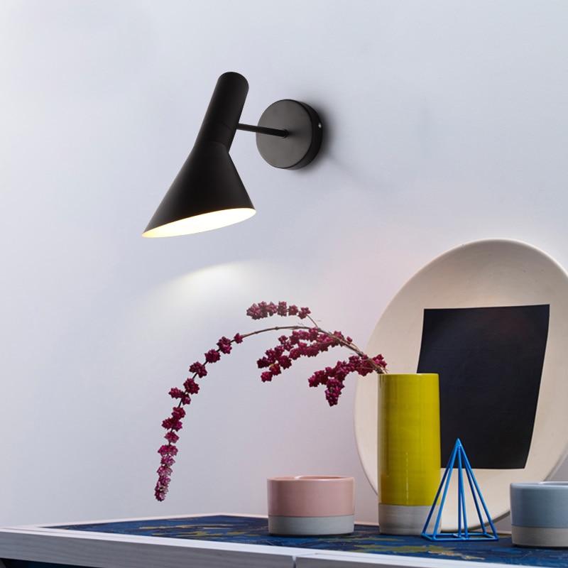 Nordic Bedroom Bedside Lamp Wall Lamp Simple Modern Aisle Corridor Hotel Golden Background Wall Lamp Creative