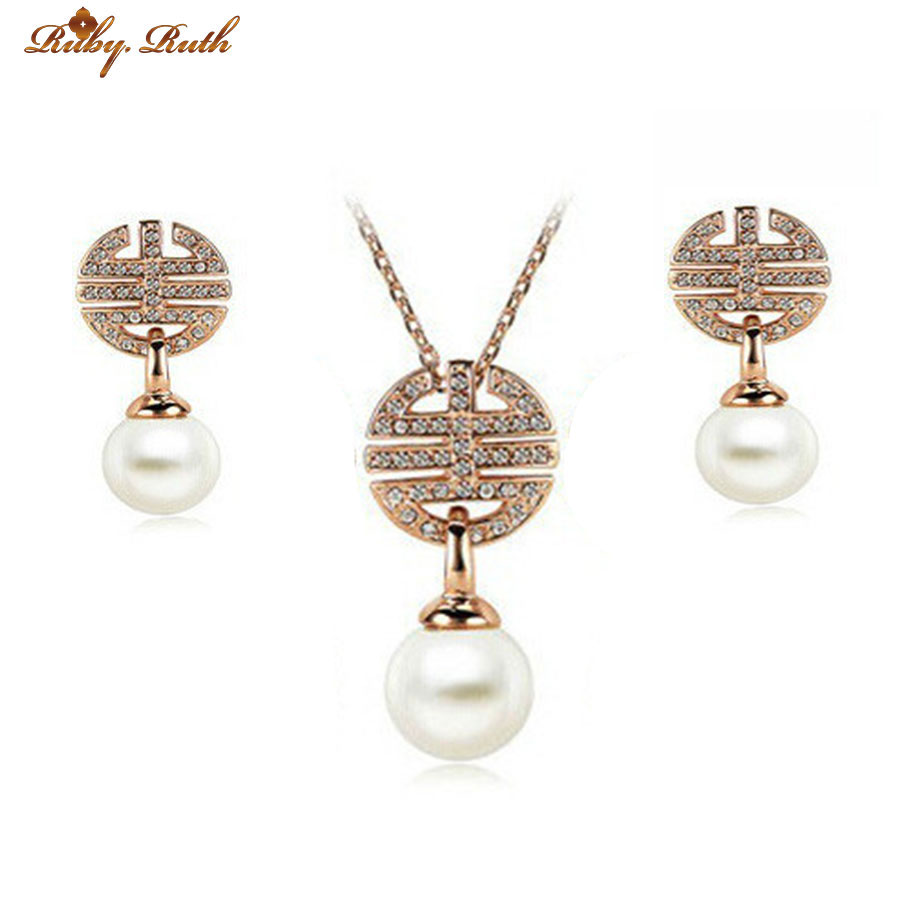 jewelry sets african pearl beads african Gold Color plated bridal ...