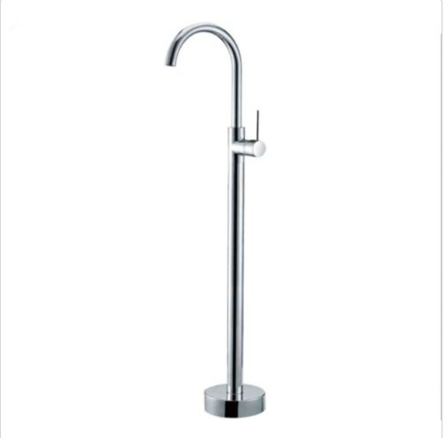 Free shipping NEW Floor Mouted Brass Chrome Free Standing Bathtub Mixer Tap Faucet Tub Filler 028 цена и фото