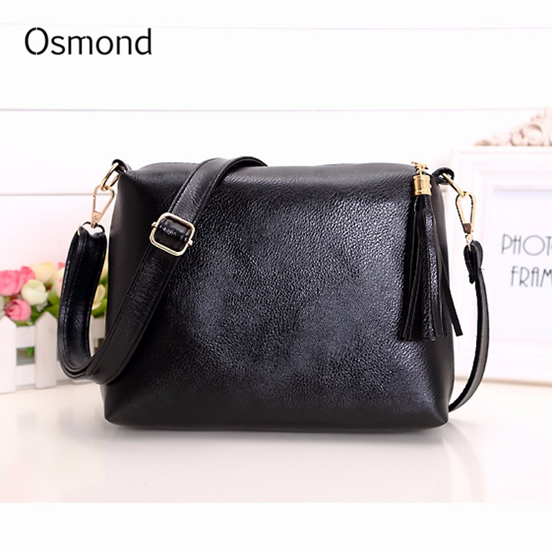 Osmond Pu Leather Messenger Bags Tassel Shoulder Crossbody Bag Solid Fashion Single Flap Handbags Girls Sling Bolsos Brand New amy winehouse lioness – hidden treasures cd