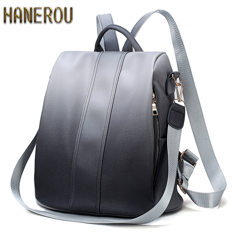 2018 Fashion PU Leather Anti Theft Backpack New Bagpack School Bags For Teenage Girls Female Shoulder Bags Mochilas Sac A Dos цена