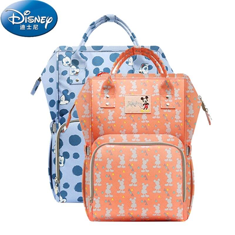 Disney детские пеленки мешок для беременных нагрева рюкзак для подгузников большой Ёмкость кормящих путешествия рюкзак USB сохранение тепла