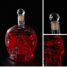 Whiskey Vodka Wine Decanter Bottles Creative Crystal Skull Head Bottle Whisky Glass Beer Spirits Cup Water Glass Club Bar Home