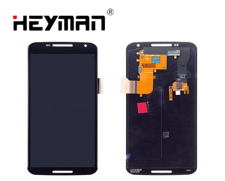 Écran LCD hebricoleur et assemblage numériseur tactile avec remplacement du boîtier avant pour Motorola Nexus 6 XT1100 XT1103 Grade S +