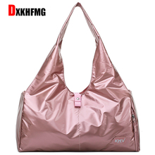 Hot Sale Large Capacity Oxford Cloth Waterproof Women Yoga Fitness Bag Casual Unisex Travel Overnight Bags  vs secret pink