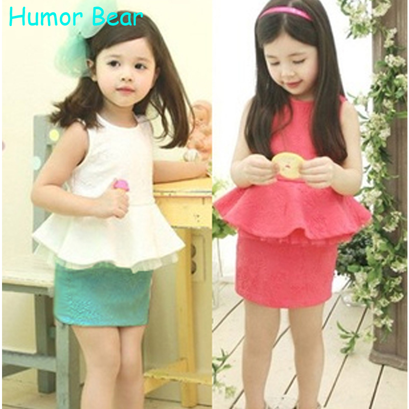 Humor Bear Girls Clothing Sets Fashion Style Clothing Set kids Summer Girls Clothes Sets Girls Suit Dress Set humor bear new girls clothes t shirt skirt 2pcs kids clothing set girls clothing sets kids clothes