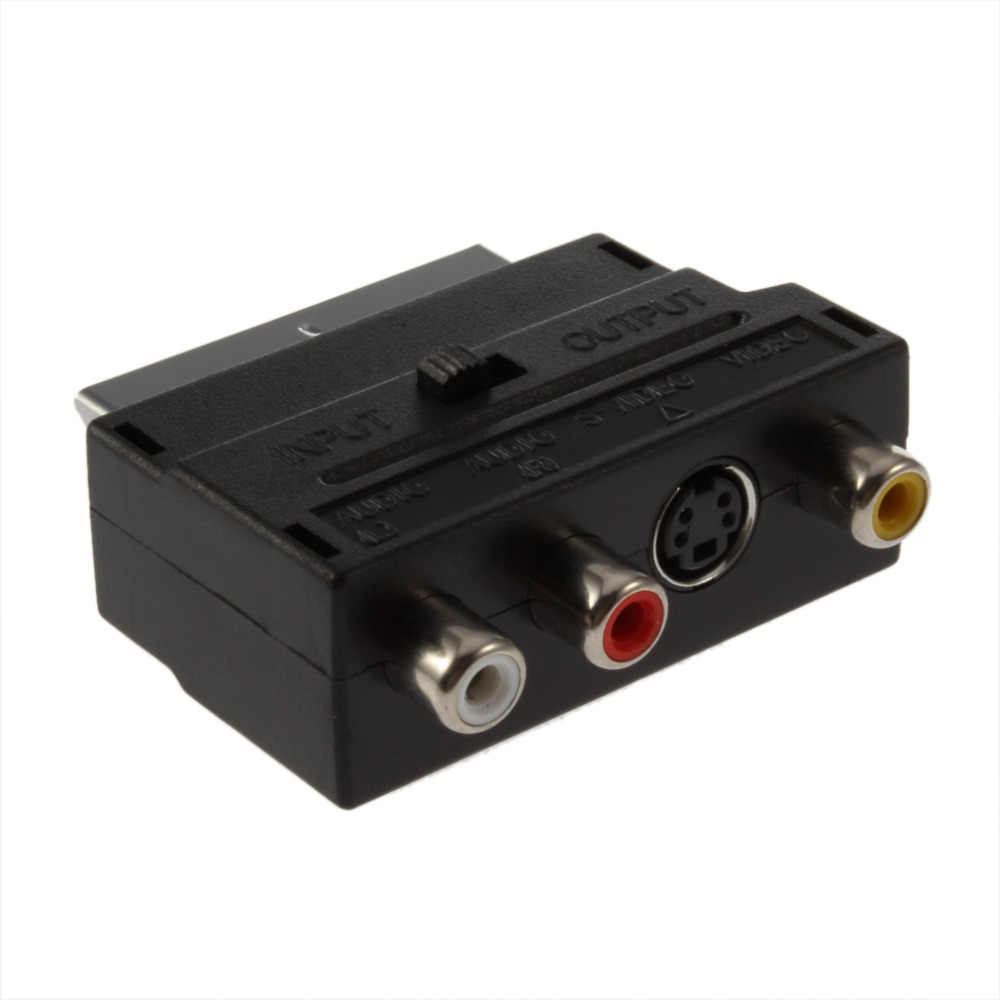 RGB to Composite RCA SVHS S-Video AV TV Audio Cable Adapter Switch 3 x RCA / Phono Female + S-Video Female to Male