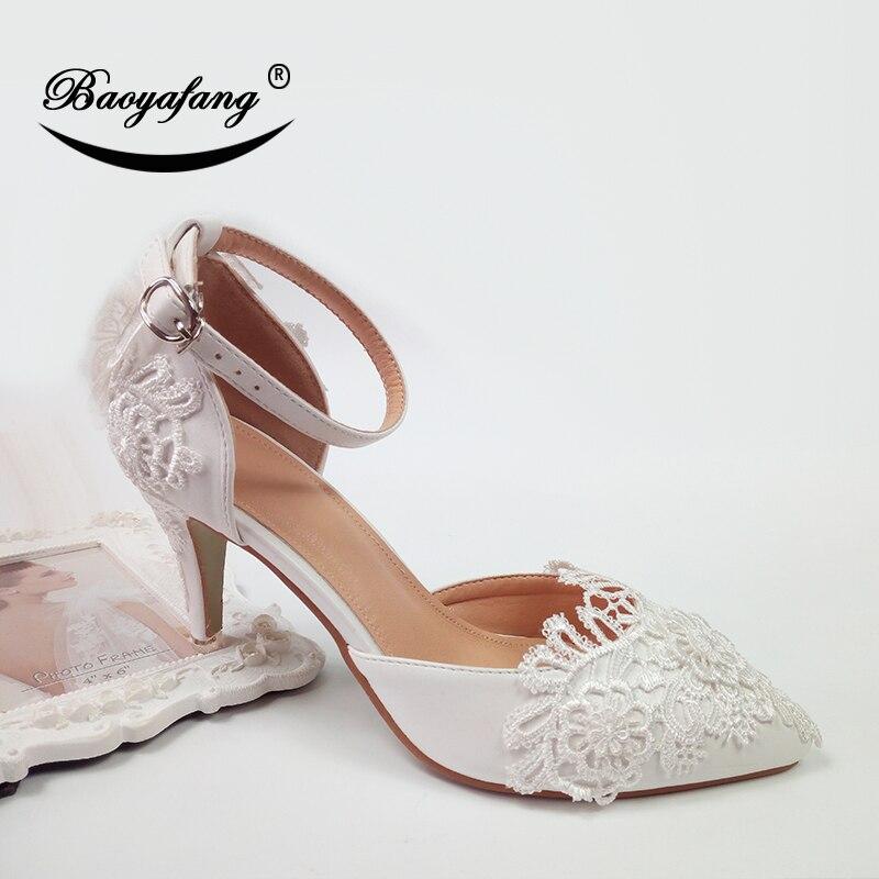 Cm Couleur White Talons Doux De Pour Super Boucle Paty 8 Nouveauté Chaussures Pure Sangle Cheville Femme Baoyafang 17qHT7