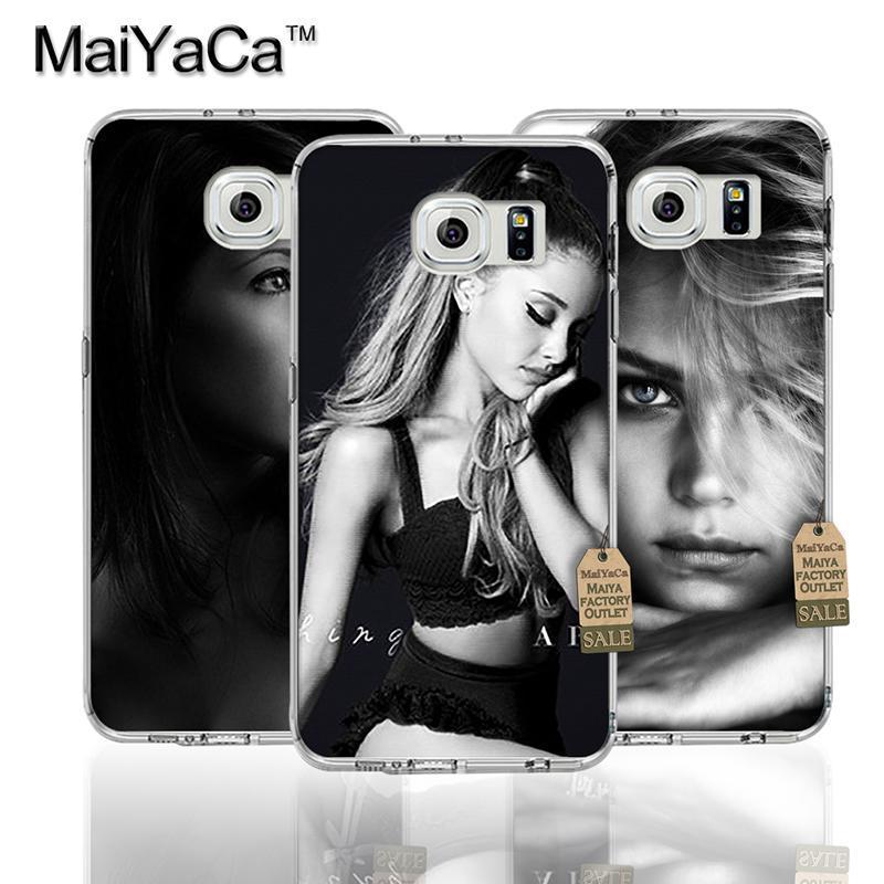 Ariana grande Pop Music Star Femenino Transparente TPU Suave Del Teléfono Acceso
