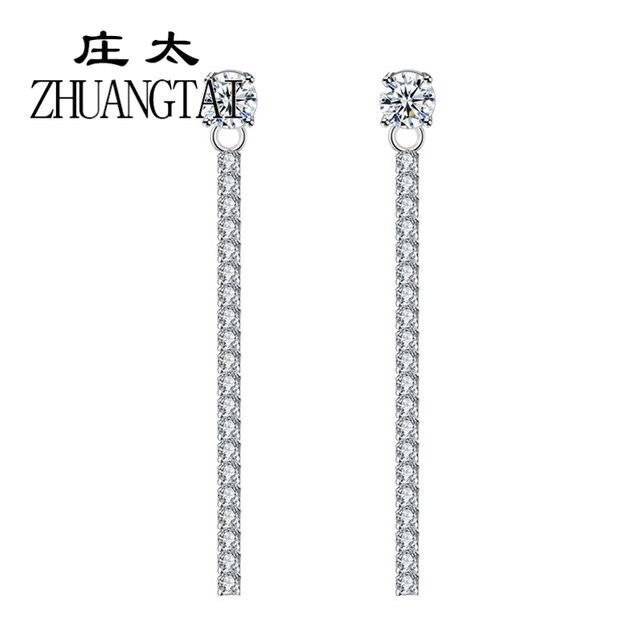 95172fdd746a1 US $4.26 |ZHUANGTAI Jewelry Trendy Tassel Drop Earrings Artificial Pearl  Cubic Zirconia Korean Elegant Wedding Dangle Earrings For Women-in Drop ...