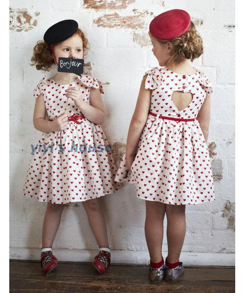 Aliexpress.com : Buy Girls heart pattern dresses children Vintage ...