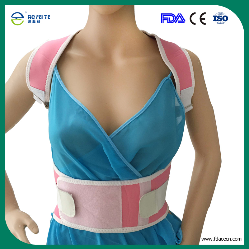 for Children Parents Free shipping Posture Support Corrector Body Back White Black Pink Pain Shoulder Brace Support Wholesale