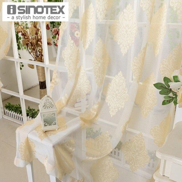 Aliexpress Fenster Vorhang Gelb Blumen Luxus Gedruckt Tll