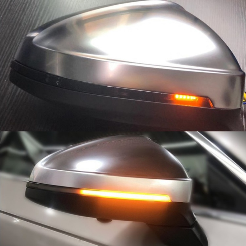 2PCS Led Dynamic Sequential LED Side Mirror Turn Signal Lights Warning Strip Tape Signal Stickers Safety Pair Set(Amper