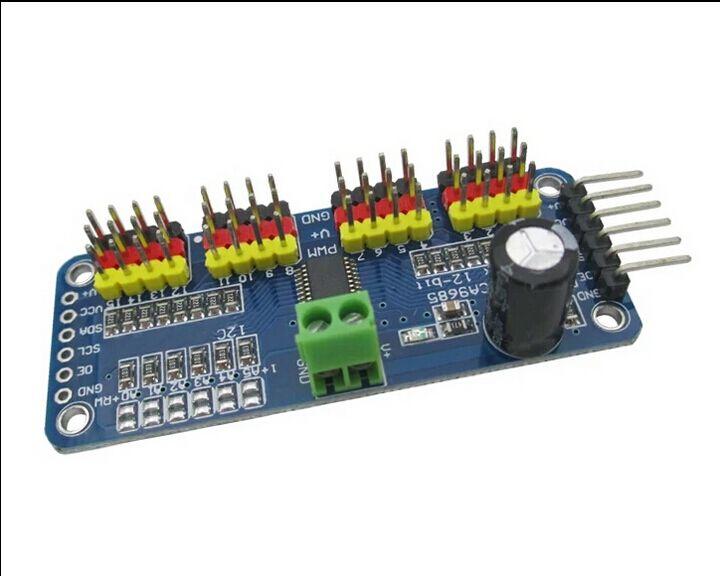 16-канальный 12-бит ШИМ/Servo Driver-I2C интерфейс PCA9685 модуль для Arduino или Raspberry Pi щит модуль Servo щит ...