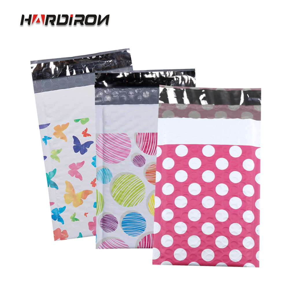 HARDIRON 100PCS Color Multi-pattern Co-extruded Film Envelope Bag Advertising Bubble Packaging Transport Pouch