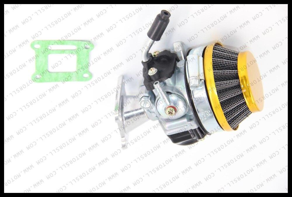 Высокое качество Китай Карбюратор Carb Carby + сталь 60 мм воздушный фильтр + 2-тактный 43 47cc49cc Мини Мото Карманный велосипед ATV Quad Minicross