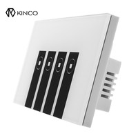 Kinco Convenient 120mm WIFI Smart Wall Switch Touch Panel APP Timing RC For Alexa Google Home