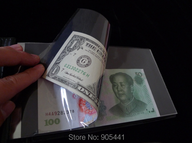 Black Front Cover Paper Money Currency Banknotes Holder 20//40 Pockets Album