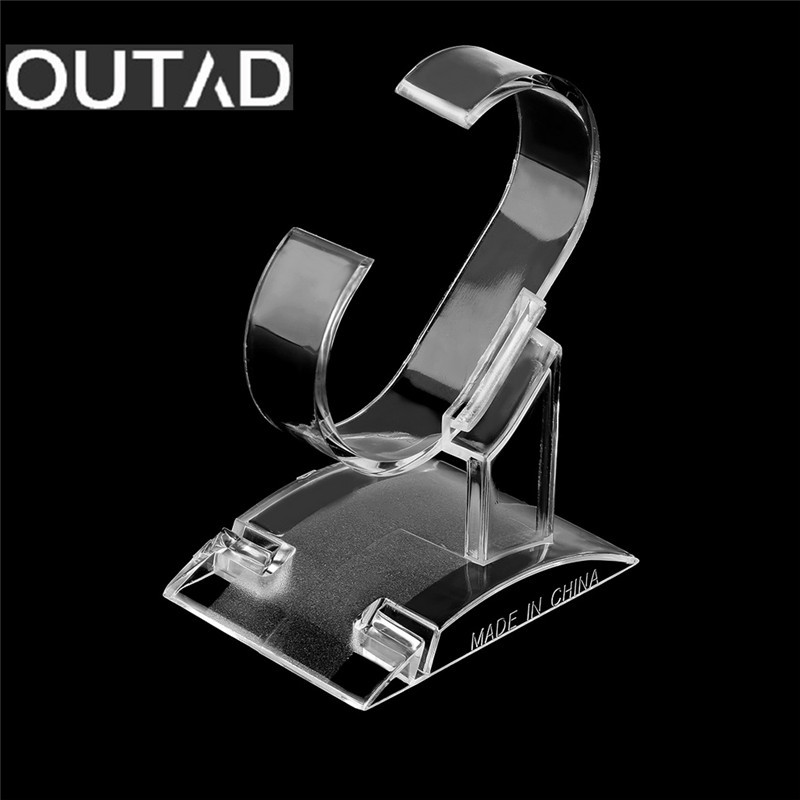 OUTAD Clear Acrylic Watch Display Holder Stand Rack Showcase Tool Transparent Wristwatch Lightweight Stand Case 4pcs transparent stand display holder for barbie dolls accessiore stand gift toy es032