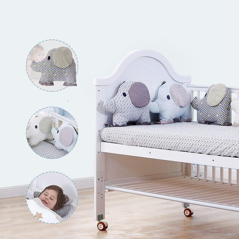6 pièces bébé lit pare-chocs souple combinaison dossier coussin Animal éléphant berceau pare-chocs doux infantile lit autour de Protection bébé