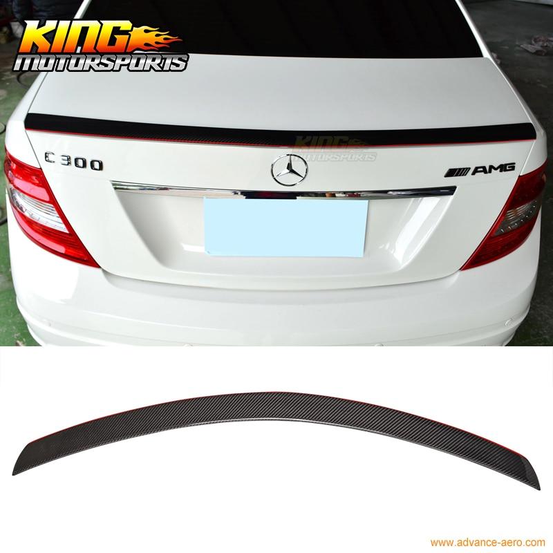 Carbon Fiber Rear Roof Spoiler Wing Lip For Mercedes-Benz W204 4D Sedan 08-13
