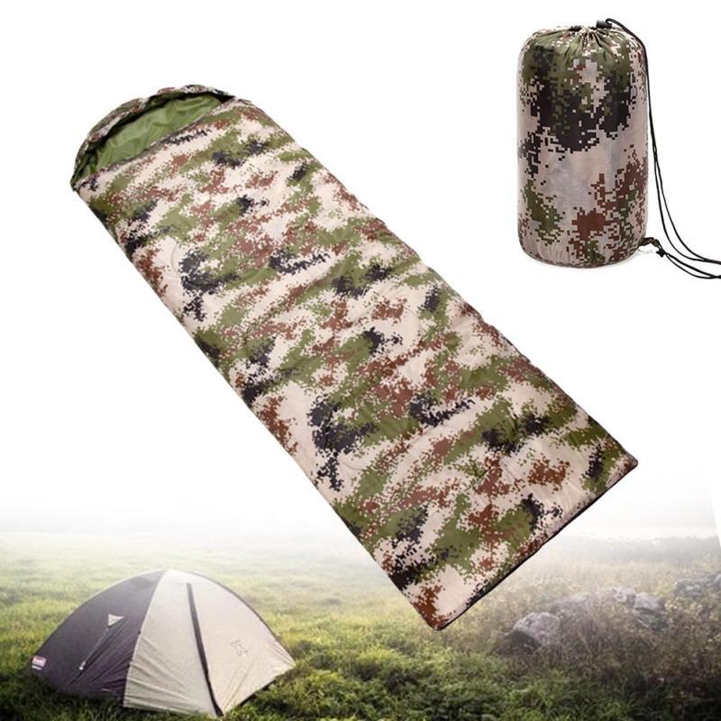 AOTU 1.1kg Ultralight Camping Sleeping Bag Envelope Warm Camouflage Sleeping Bag Comfortably Goose Down Sleeping Bag 210*75cm
