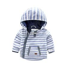 2017NEW Striped  Children Jacket Spring Autumn  Windbreaker Kid Coat Girl boy Clothing Windcoat 1-7years old