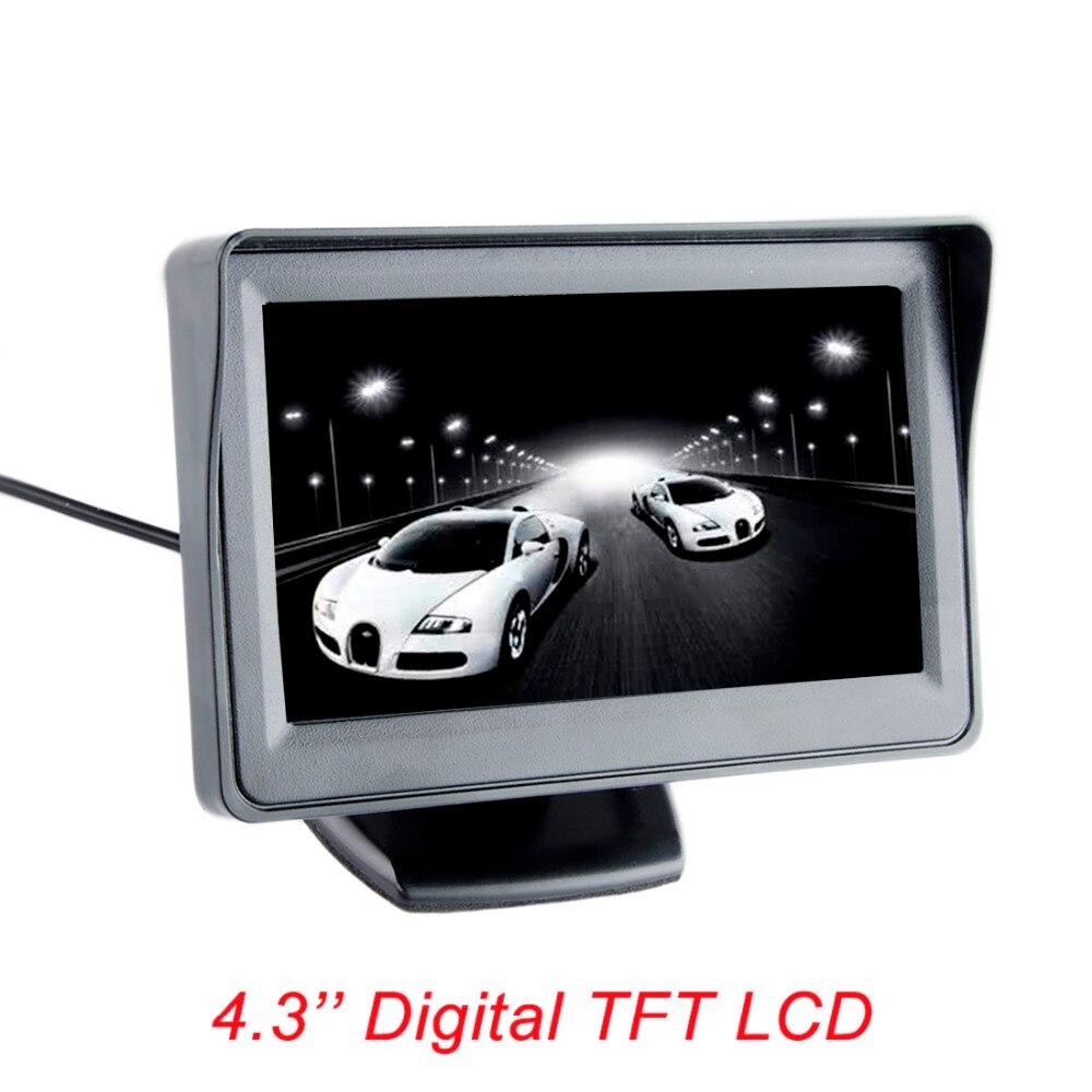 imágenes para Pantalla a color de 4.3 pulgadas TFT LCD monitor retrovisor aparcamiento de copia de seguridad 4.3 ''de vídeo PAL/NTSC ENVÍO LIBRE