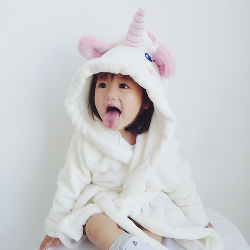 Winter Flannel Christmas Pyjamas Kids Boys Cartoon Animal Cosplay Unicorn Pajamas Boy Girls Onesie Children Sleepwear Bathrobe christmas rainbow unicorn animal family onesie pajamas