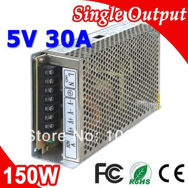 S-150-5 LED Transformer Switching Power Supply 150W 5V DC 30A Output security 5v 30a dc regulated switching power supply for led camera monitor