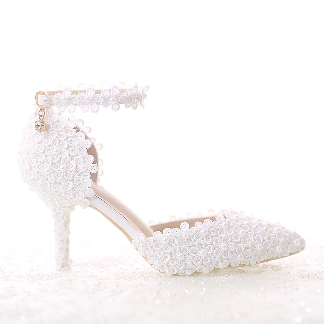 Ladies Sandals New white pearl 1afd11bb51f7