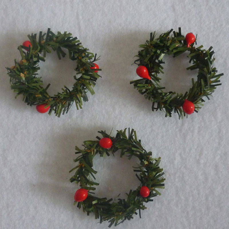 Small Christmas Wreaths.Us 1 83 30 Off 10 Pcs Lot Small Christmas Garland Creative Christmas Wreath Pine Rattan Ring Christmas Wreath Harvest Christmas Dia 4 5 Cm In