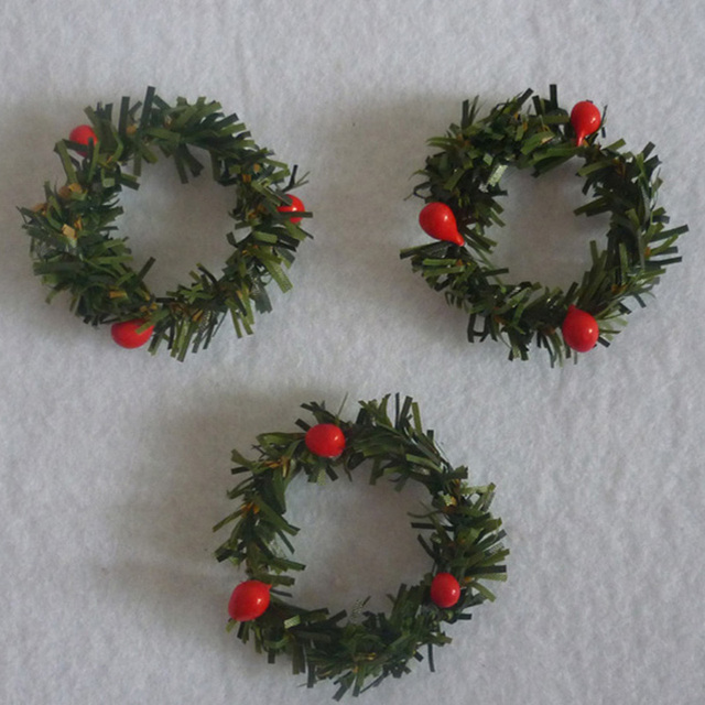 10 pcslot small christmas garland creative christmas wreath pine rattan ring christmas wreath harvest - Small Christmas Wreaths