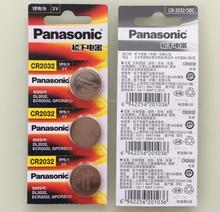 5pcs/lot Panasonic CR3032 CR 3032 DL3032 ECR3032 3V Lithium Car Key Remote Control Electric Alarm Cell Button Coin Battery