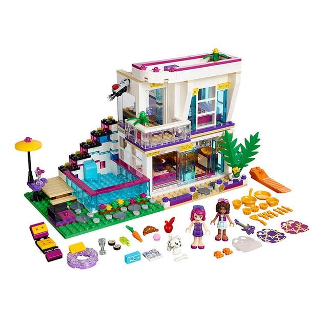בניין בלוק 10498 תואם חברים ליווי של פופ כוכב בית 41135 אמה מיה דמות חינוכיים צעצוע לילדים