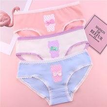 4f226aa22 TWTZQ Bonito Urso Meninas Cuecas Calcinhas para Mulheres Bowknot Panty Das Senhoras  Roupa Interior Das Mulheres